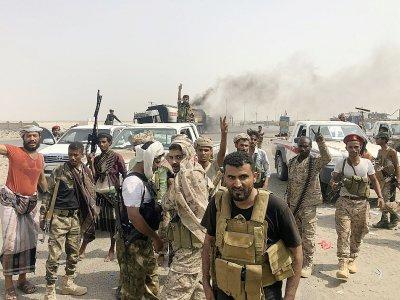 Des combattants séparatistes yéménites photographiés après avoir repris le contrôle d'Aden, dans le sud du Yémen, le 29 août 2019    Nabil HASAN [AFP]