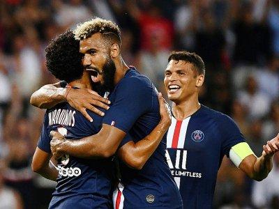 Le PSG de Marquinhos Choupo-Moting et Thiago Silva, vainqueur de Toulouse, le 25 aoîut 2019 à Paris, se retrouve dans le même groupe de C1 que le Real    FRANCK FIFE [AFP/Archives]