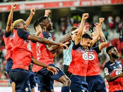 Les Lillois, larges vainqueurs de Saint-Etienne en Ligue 1, le 28 août 2019 à Villeneuve-d'Ascq, vont redécouvrir la Ligue des champions    PHILIPPE HUGUEN [AFP]