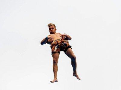 Un concurrent en plein saut lors du championnat du monde de døds à Oslo le 17 août 2019    FREDRIK VARFJELL [AFP]