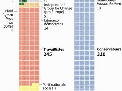 La majorité au Parlement britannique - Vincent LEFAI [AFP]