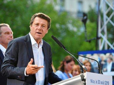 Le maire de Nice, Christian Estrosi, à Nice, le 30 août 2019 - YANN COATSALIOU [AFP/Archives]