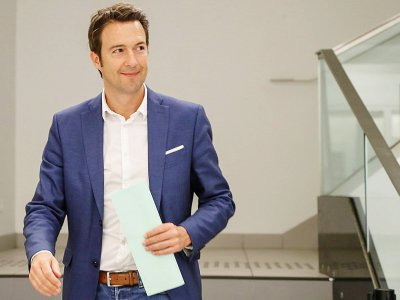 Guillaume Peltier, premier vice-président du parti LR, a renoncé à briguer la présidence, à Paris, le 11 juin 2019 - FRANCOIS GUILLOT [AFP/Archives]
