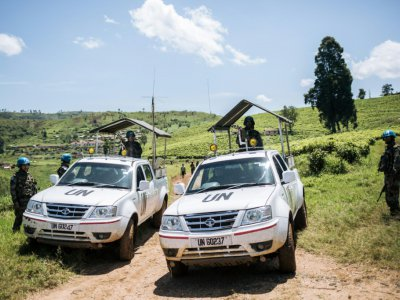 Patrouille de Casques bleus dans le Nord Kivu, dans l'Est de la RDC, le 11 avril 2019. - ALEXIS HUGUET [AFP/Archives]