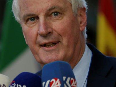 Le négociateur en chef de l'Union européenne pour le Brexit, Michel Barnier, le 10 avril 2019 à Bruxelles.    Aris Oikonomou [AFP]