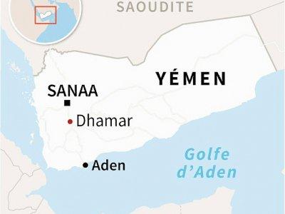 Carte localisant Dhamar au Yémen    AFP [AFP]