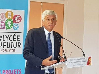 Le président de région Normandie Hervé Morin inaugure les travaux. - Eric Mas