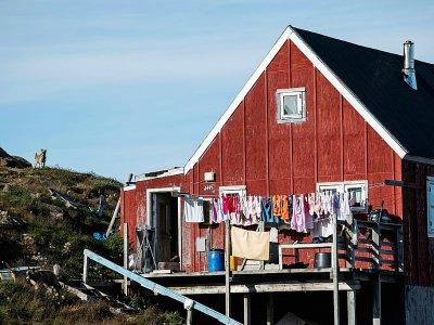 Une maison à Kulusuk, village du Groenland, le 18 août 2019    Jonathan NACKSTRAND [AFP]