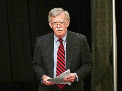Le conseiller américain à la sécurité nationale John Bolton, le 25 septembre 2018 à New York lors d'un sommet sur le nucléaire iranien - MANDEL NGAN [AFP/Archives]