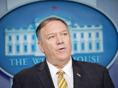 Le secrétaire d'Etat américain Mike Pompeo, lors d'un point presse à la Maison Blanche, le 10 septembre 2019 à Washington - Mandel NGAN [AFP]