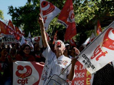 Manifestation à l'appel de la CGT pour protester contre la situation dans le secteur de la santé, le 11 septembre 2019 à Paris    Philippe LOPEZ [AFP]