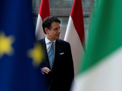 Le Premier ministre italien Giuseppe Conte le 11 septembre 2019 à Bruxelles    Kenzo TRIBOUILLARD [AFP]