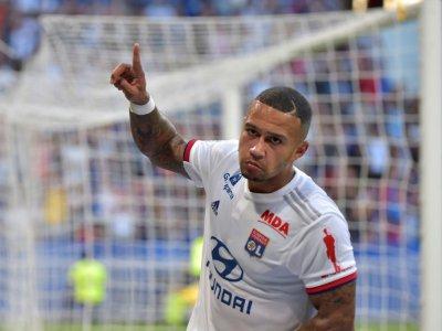 Memphis Depay, attaquant néerlandais de Lyon, le 31 août 2019 à Décines-Charpieu - ROMAIN LAFABREGUE [AFP/Archives]