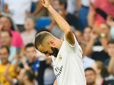 L'attaquant français Karim Benzema lors du match du Real Madrid en Liga, le 24 août 2019, au stade Santiago Bernabeu    GABRIEL BOUYS [AFP]