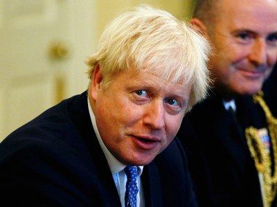 Le Premier ministre Boris Johnson lors d'une table ronde avec des chefs militaires à Downing Street à Londres, le 19 septembre 2019    HENRY NICHOLLS [POOL/AFP]