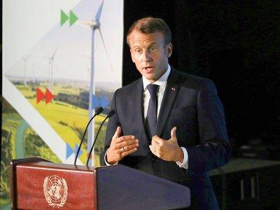 Emmanuel Macron à l'ONU le 23 septembre 2019    Ludovic MARIN [AFP]