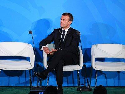 Emmanuel Macron à l'ONU le 23 septembre 2019    TIMOTHY A. CLARY [AFP]