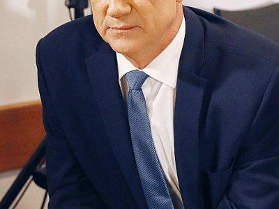 L'ex-général israélien Benny Gantz, dirigeant du parti centriste Kahol Lavan (Bleu-blanc), et grand rival du Premier ministre Benjamin Netanyahu, le 26 septembre 2019 à Tel Aviv - JACK GUEZ [AFP]