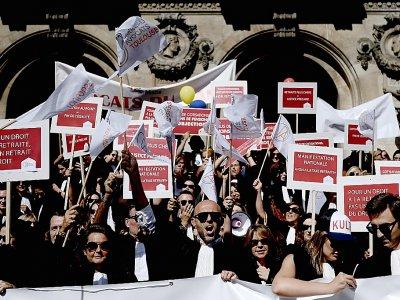 Les avocats en grève contre la réforme des retraites, le 16 septembre 2019 à Paris    Philippe LOPEZ [AFP/Archives]