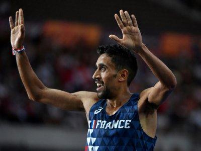 Morhad Amdouni champion d'Europe du 10.000 m, le 7 août 2018 à Berlin - John MACDOUGALL [AFP/Archives]