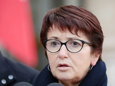 Christiane Lambert en février 2019 à Paris - LUDOVIC MARIN [AFP/Archives]