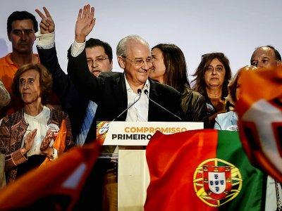 L'ancien maire de Porto, Rui Rio (PSD), principal adversaire du Premier ministre Antonio Costa, lors d'un meeting à Lisbonne, le 4 octobre 2019 au Portugal - PATRICIA DE MELO MOREIRA [AFP]