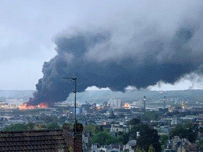 L'incendie de l'usine chimique Lubrizol de Rouen le 26 septembre 2019    Jean-Jacques GANON [AFP/Archives]