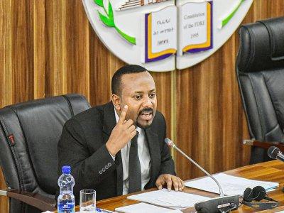 Le Premier ministre éthiopien Abiy Ahmed, le 1er juillet 2019 au Parlement, à Addis Abeba - Michael TEWELDE [AFP/Archives]