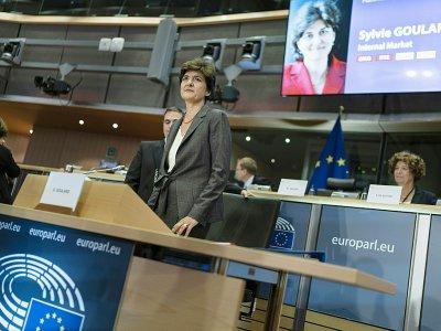 Sylvie Goulard lors de son audition au parlement européen le 10 octobre 2019 à Bruxelles - Kenzo TRIBOUILLARD [AFP]