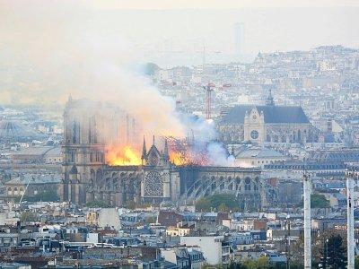 Notre-Dame de Paris en flammes, le 15 avril 2019    Hubert Hitier [AFP/Archives]