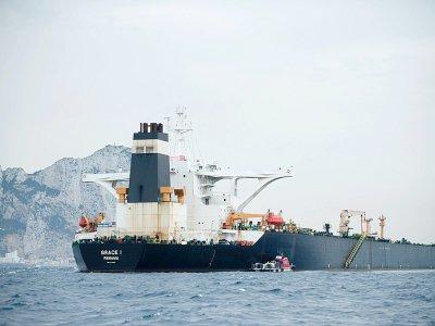 Le supertanker Grace 1 au large de Gibraltar, le 6 juillet 2019    JORGE GUERRERO [AFP/Archives]