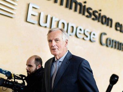 Le négociateur de l'UE Michel Barnier arrive à la Commission européenne à Bruxelles le 11 octobre 2019    Kenzo TRIBOUILLARD [AFP]