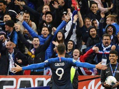 Olivier Giroud, à nouveau buteur pour la France, face à la Turquie, le 14 octobre 2019 au Stade de France - Alain JOCARD [AFP]