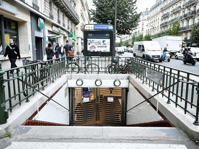 Une station de métro parisien le 13 septembre 2019, jour de grève contre la réforme des retraites - STEPHANE DE SAKUTIN [AFP/Archives]