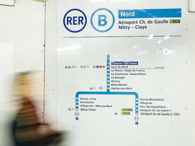 A la station Chatelet-Les Halles à Paris, le 8 mars 2016    Geoffroy Van der Hasselt [AFP/Archives]
