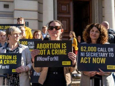 Manifestation appelant à changer la loi sur l'avortement en Irlande du Nord, le 26 février 2019 à Londres    Niklas HALLE'N [AFP/Archives]