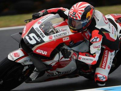 Le Français Johann Zarco (Honda-LCR) lors des essais libres pour le GP d'Australie, catégorie MotoGP, le 25 octobre 2019 à Phillip Island    GLENN NICHOLLS [AFP]