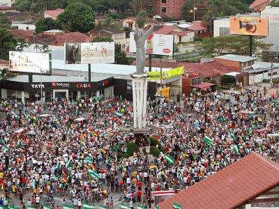 Marche de Boliviens contre la réélection d'Evo Morales, à Santa Cruz le 27 octobre 2019    DANIEL WALKER [AFP]