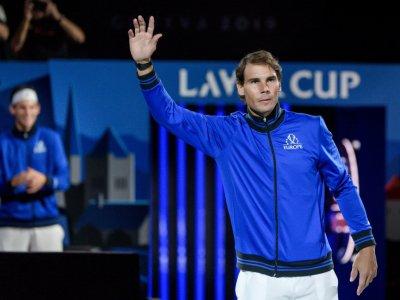 Rafael Nadal avant le coup d'envoi de la Laver Cup, le 20 septembre 2019 à Genève    Fabrice COFFRINI [AFP/Archives]