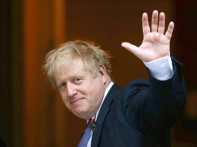 Le Premier ministre britannique Boris Johnson devant le 10 Downing Street, le 28 octobre 2019 à Londres    ISABEL INFANTES [AFP]