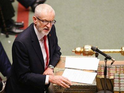 Le leader travailliste Jeremy Corbyn à la Chambre des Communes le 29 octobre 2019, à Londres, une image fournie par le Parlement britannique    JESSICA TAYLOR [UK PARLIAMENT/AFP]