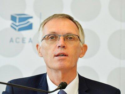 Le président du directoire de PSA Carlos Tavares, à Francfort, le 11 septembre 2019    Tobias SCHWARZ [AFP/Archives]