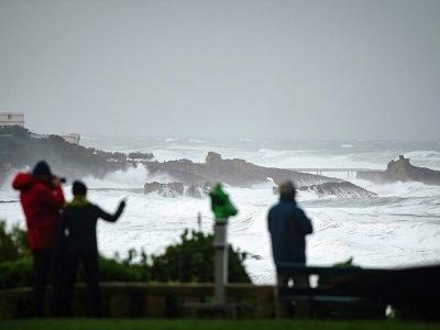 Fortes vagues à Biarritz lors de la tempête Amélie, le 3 novembre 2019    GAIZKA IROZ [AFP]