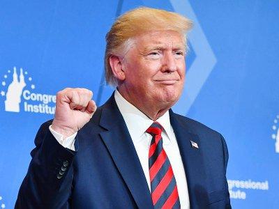 Le président américain Donald Trump s'exprime devant des élus républicains à Baltimore le 12 septembre 2019    Nicholas Kamm [AFP]