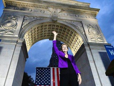 La sénatrice démocrate et candidate à la Maison Blanche Elizabeth Warren, lors d'un meeting de campagne le 16 septembre 2019 à New York - TIMOTHY A. CLARY [AFP/Archives]