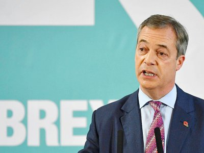 L'europhobe Nigel Farage, chef de file du Parti du Brexit, à Hartlepool le 11 novembre 2019    Paul ELLIS [AFP]