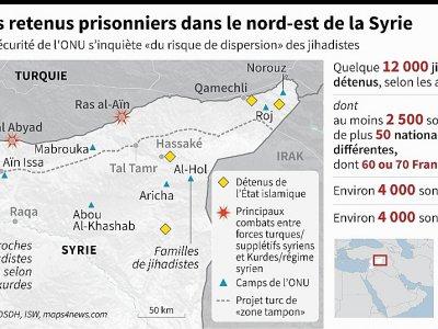 Jihadistes retenus prisonniers dans le nord-est de la Syrie    John SAEKI [AFP]