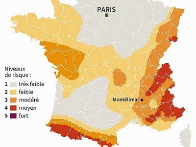 Zones sismiques en France    Paz PIZARRO [AFP]