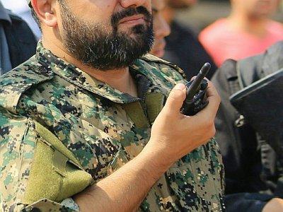 Photo d'archives datant du 21 octobre 2016 montrant Baha Abu Al-Ata, un commandant du Jihad islamique, un groupe armé palestinien, lors d'un rassemblement dans la ville de Gaza - STR [AFP]