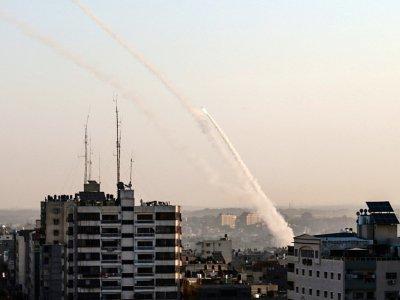 Des roquettes palestiniennes sont tirées depuis la bande de Gaza le 12 novembre 2019 - BASHAR TALEB [AFP]